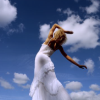 Girl & Clouds