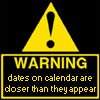 Dates warning