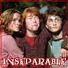 Inseperable, Hermione, Ron, Harry Potter