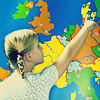 Girl and map DK