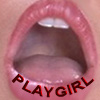PLAYGIRL'S MOUTH LIPS TONGUE