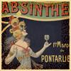 absinthe art nouveau tile