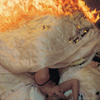bed on fire
