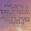Tallian: I am wicked