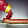 Hot dog and ketchup