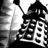 Black and white Dalek