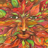 Greenman, man paintting by Samantha Kocsis, green