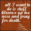 scarlettina: Kleenex and death