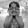 Amanda: goggles kid