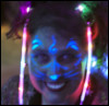 glow painting face