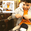Kid knitting