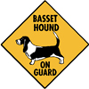 basset on guard