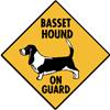 basset on guard