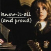 Hermione: Know-it-all