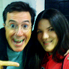 AB: colbert; with his girlfriend