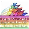 froggumz: Markers & ADD