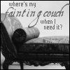 downloadableindifference: fainting couch