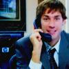 Office - Jim - Phone/eyebrow