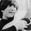 beatles john hugs guitar
