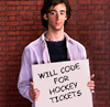 will code for hockey tickets
