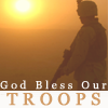 Text; God Bless Our Troops