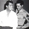 In a triangle with Dino and Elvis: Elvis & Dino