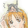 _debbiechan_: Ishida kitten on her Head
