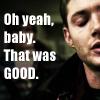 ~D: SPN-Dean-MskatejScreencaptions1.3-OhYeah