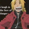 laugh in face of danger