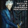 Barb: Vergil-Murderous Psychopath