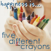 crayons and happiness