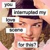 interrupted love scene