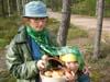 мы с Варькой в лесу