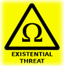 threat, existentional, warning