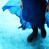 river blue dress