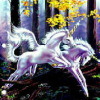 leaping unicorns