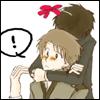 yuuri's shy hug