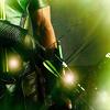 green arrow, sparkly