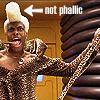 not phallic