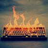 olorwen: NaNo burning keyboard (nucleicacid)