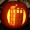 DW - TARDIS pumpkin - bright, pumpkin - TARDIS (bright)