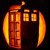 pumpkin - TARDIS (dim), DW - TARDIS pumpkin - dim