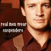 real men wear suspenders