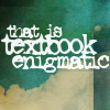 text textbook enigmatic