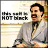 this suit is black not