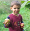 isaac with apple
