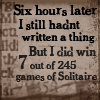 writing solitaire