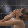 games - sims - shower