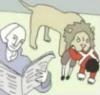 lion eating child - george washington (b
