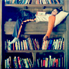 asleep in books